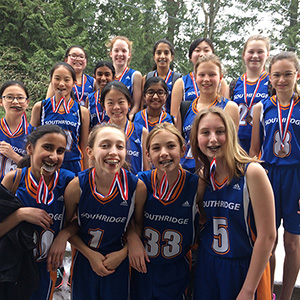 Grade 7 Girls' Basketball Take Bronze at ISEA'S