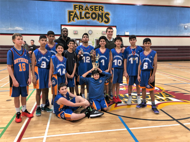 Grade 8 Boys Win Fraser Basketball Tournament