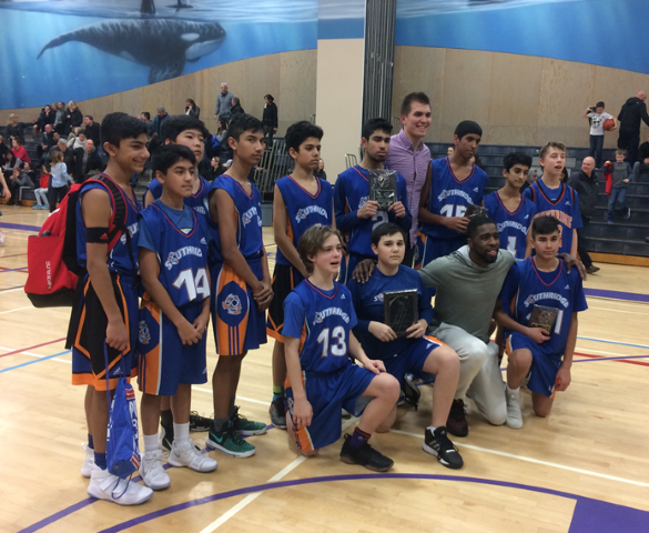 Grade 8 Boys Win Battle of the Bay Basketball Tournament